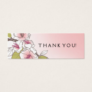 Blooming Cherry Blossoms Gift Tag pink