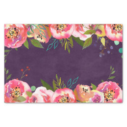 Blooming Chic Color Editable Wedding Tissue Paper
