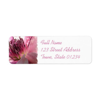 Blooming Clematis Mailing Label