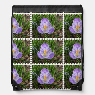 Blooming Crocus Drawstring Bag