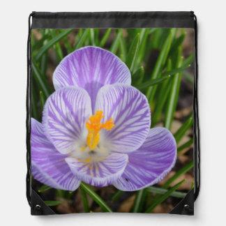 Blooming Crocus Drawstring Backpack