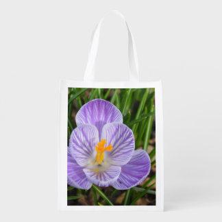 Blooming Crocus Grocery Bag