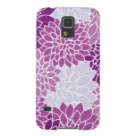 Blooming Dahlia Flowers, Petals - Blue Purple Galaxy S5 Cases