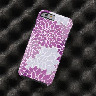 Blooming Dahlia Flowers, Petals - Blue Purple Tough iPhone 6 Case