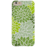 Blooming Dahlia Flowers, Petals - Green White Barely There iPhone 6 Plus Case