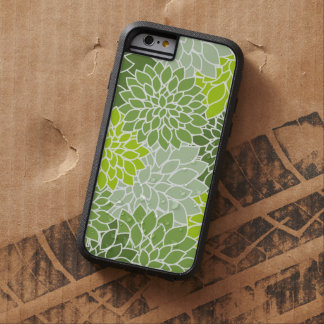 Blooming Dahlia Flowers, Petals - Green White Tough Xtreme iPhone 6 Case