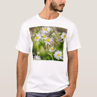 Blooming Daisies Floral Painterly Photograph T-Shirt