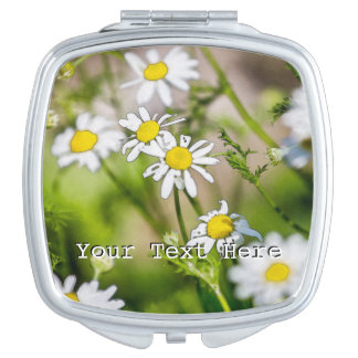 Blooming Daisies Floral Painterly Photograph Travel Mirrors