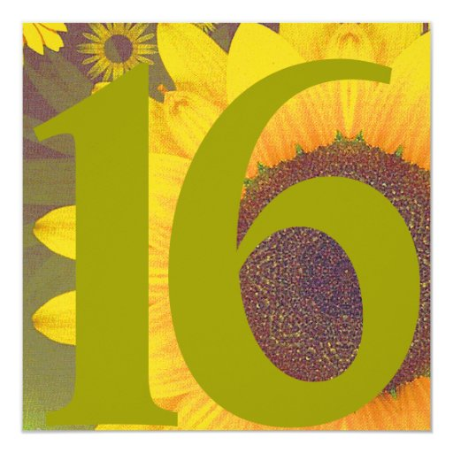 Blooming Dream Sweet Sixteen Invitation-Customize Card