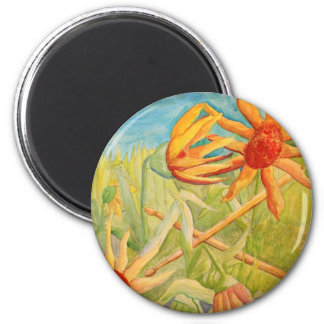 Blooming Drummers 2 Inch Round Magnet