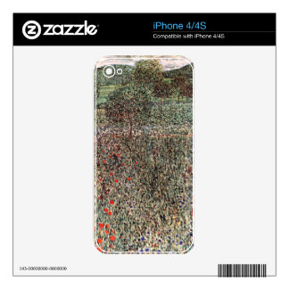 Blooming field cool skin for the iPhone 4