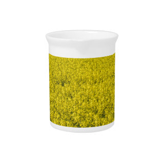 blooming field of rapeseed beverage pitcher