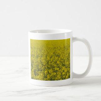 blooming field of rapeseed coffee mug