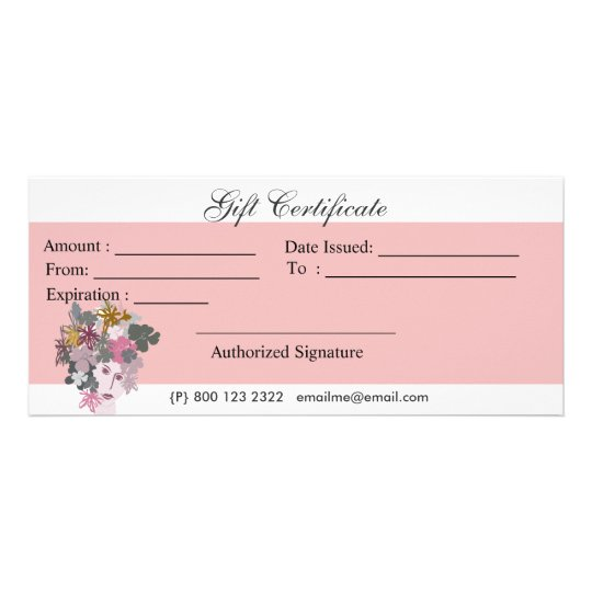Blooming Floral Goddess Womans Face Floral Bouquet Rack Card