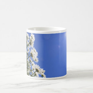 Blooming Flowers and Blue Sky at Spring Time Coffee Mug