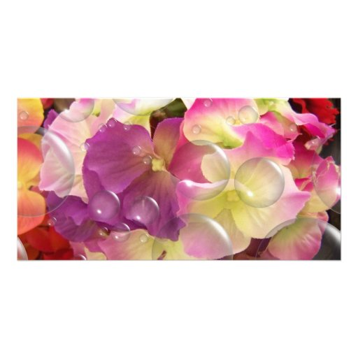 Blooming Flowers Bookmark Photo Card