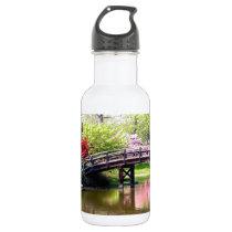 Blooming Flowers Bridge Stainless Steel Water Bottle