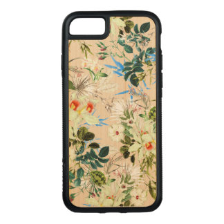 Blooming Flowers, Hibiscus, Orchids - White Green Carved iPhone 8/7 Case