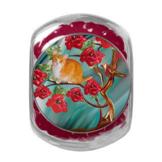 Blooming Friendship Tree Neighbors Jelly Belly Jar Glass Candy Jar