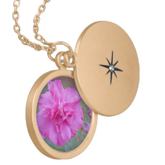 Blooming Fuschia Rose Gold Plated Necklace