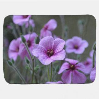 Blooming Geraniums Baby Blanket