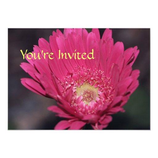 "Blooming Gerbera Invitation 5"" X 7"" Invitation Card"