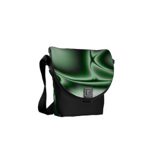 Blooming Green Fractal Courier Bags