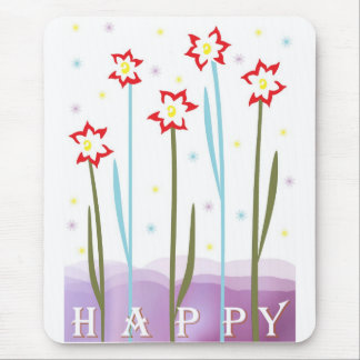 Blooming Happiness Mouse Pad