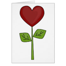 Blooming Heart Flower - Friendship Card