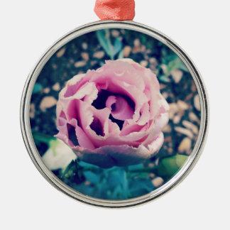 Blooming Heart Metal Ornament
