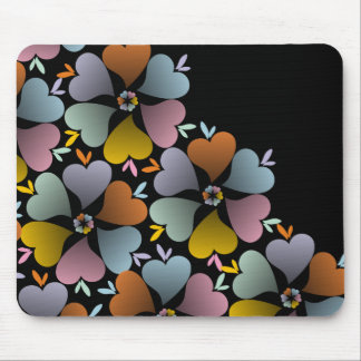 Blooming Hearts 1 Mouse Pad
