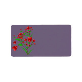 Blooming Hearts Address Label