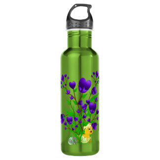 Blooming Hearts and Chicks Water Bottle