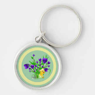 Blooming Hearts Easter Chick Keychain
