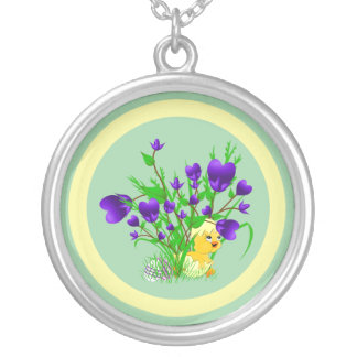Blooming Hearts Easter Chick Necklace