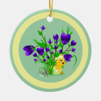 Blooming Hearts Easter Chick Ornament