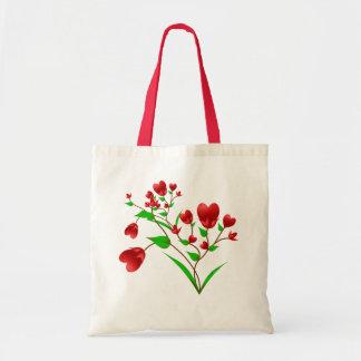 Blooming Hearts Tote Bag