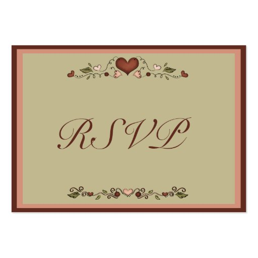 Blooming hearts wedding invitation rsvp insert large for Wedding invitations packs of 100