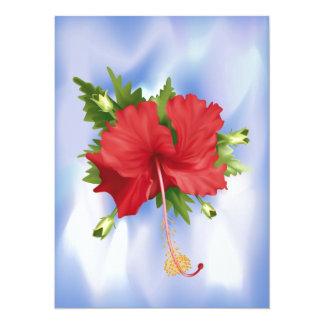 Blooming Hibiscus Card