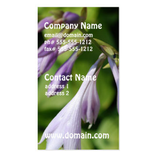 Blooming Hosta Double-Sided Standard Business Cards (Pack Of 100)