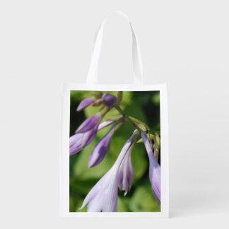 Blooming Hosta Reusable Grocery Bag
