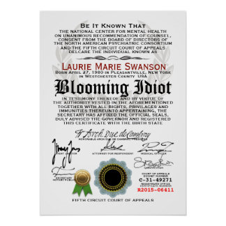 Blooming Idiot Poster