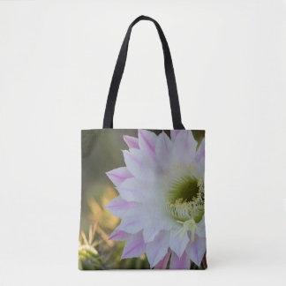 Blooming in purple and white tote bag
