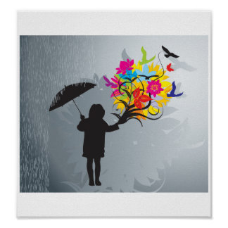Blooming in the Rain Print