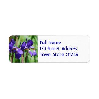 Blooming Iris Label