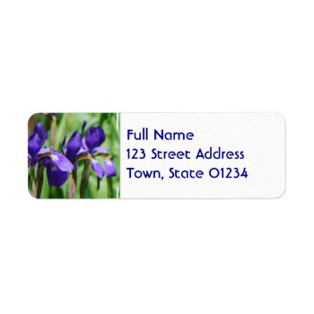Blooming Iris Label by PerennialGardens at Zazzle