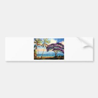 Blooming Jacaranda on the Beach Bumper Sticker