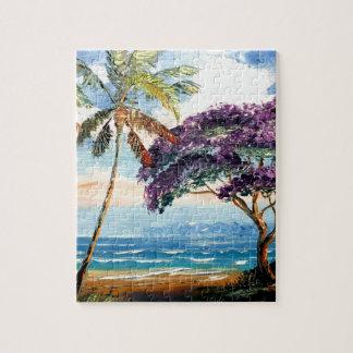 Blooming Jacaranda on the Beach Puzzle