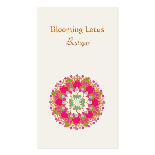 Blooming Lotus Flower Business Card