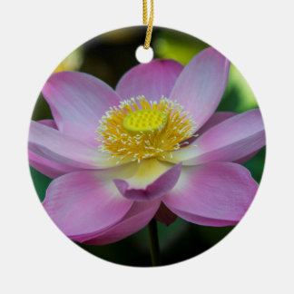 Blooming lotus flower, Indonesia Ceramic Ornament